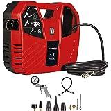 Einhell TC-AC 180/8 OF, Koffercompressor, 1100 W, 180 L/Min, 8 Bar, incl. 3 M Persluchtslang, Persluchtpistool, Bandenpomp en