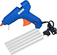 Manbhari Hot Melt Standard Temperature Corded Glue Gun with 5 pcs glue sticks(Blue)