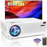 WiMiUS Vidéoprojecteur 8500 Lumens, Vidéoprojecteur Full HD 1080P Rétroprojecteur WiFi 4K Soutien, Correction Digitale 4D Aff