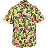 True Face Mens Hawaiian Shirt Funky Short Sleeve Fancy Printed Hawaii Top Casual Wear