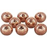 G Decor Lot de 8boutons de porte en cuivre martelé, pour tiroirs de placards, style bohème, finition vintage