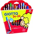 Giotto- Fila Astuccio 12 Matitoni Bebe' Diametro Mina 7Mm Temperamatite Compreso 598, Multicolore, 8000825002656