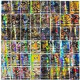 TAIPPAN 100 Pcs GX Pokemon Cartes Francaise, Francaise Pokemon Card, Cadeau denfant, Jeux De Cartes Pokemon Cartes Style