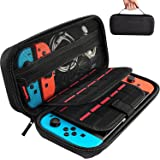 Daydayup Switch Case Compatible With Nintendo Switch - Carrying Case with 20 Game Cartridges, Protective Hard Shell Travel Ca