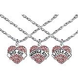 Sisters Friends collana grande SIS lettiera ciondolo a forma di cuore regali di compleanno per le donne ragazze amicizia