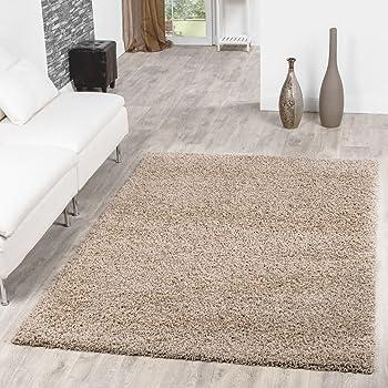 T&T Design Shaggy Teppich Hochflor Langflor Teppiche Wohnzimmer ...