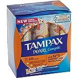 Tampax Compak Pearl Super Plus avec applicateur de protection et discrétion 128 unités 1220 g