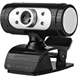 Zebronics Zeb-Ultimate Pro (Full HD) 1080p/30fps Webcam with 5P Lens, Built-in Mic, Auto White Balance, Night Vision, Manual