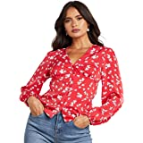 Floral Ditsy Printed Long Sleeves Blouse For Women Closet by Styli