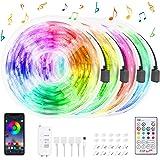 Striscia LED 20M,HeertTOGO Bluetooth strisce LED RGB 300 LED SMD5050, 20 colori con telecomando IR a 23 tasti, luci led per D