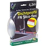 Gedotec FN Silco-Flex afdichtingsprofiel, transparante afdichtlip | sokkelafdichting universeel voor keuken en werkblad | fle