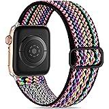 Wepro Compatible con Correa Apple Watch 44mm 42mm para Mujeres/Hombres, Correa de Repuesto Elegante de Nailon Ajustable Elást
