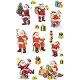 Avery 52624 pegatinas de Navidad, Papá Noel, materiales de papel con brillo, 2 hojas, 30 Etiqueta