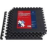 PROIRON Vloerbescherming In elkaar grijpende mat 1,2 cm / 1,9 cm extra dik Gymvloer EVA-schuimmatten Tegels 60 x 60 cm voor k