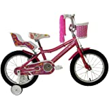 "Umit Bicicleta 16"" Lydia, Niñas, Rosa, Infantil"
