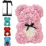 orso rosa fatto a mano orsacchiotto fiore orso rosa orsacchiotto - regalo per la festa della mamma, regalo per lei, regali di