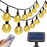 Aenamer Guirnalda Luces Exterior Solar, 17M 100 LED Impermeable Cadena de Luces 8 Modos de Luz para Decoración Hogar Jardín T