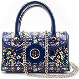 Borsa Donna Mini Bag In Pelle Decorazione Floreale Lavorazione Artigianale - Made In Italy | FP Pelletterie – Valentina