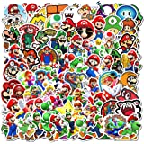 DIWSO Pegatinas de Super Mario Bros (100 Piezas) de Vinilo a Prueba de Agua para Ordenador Portátil, Parachoques, Patineta, B