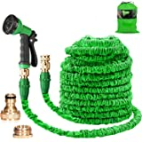 Suplong Water Hose Pipe Garden Hose Expandable 3 Times Expandable Hose 100ft Flexible Magic Hose Pipes Gardening With 8 Funct