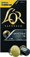 L'Or Espresso Café Onyx Noir Intensité 12 - 50 Capsules en Aluminium Compatibles Nespresso®* (Lot de 5X10 capsules)