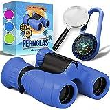 Binocolo Bambini - Regalo ottimale per bambino e bambina - Forte ingrandimento 8X21 - Set Esploratore Completo con Lente d'In