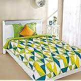 Amazon Brand - Solimo Microfibre Printed Comforter, 200 GSM, Green, Single (Argyle Adventures, 150 x 230 cm)