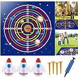 3-in-1 speeltoestelset - Inclusief ringgooi met zachte kegels, bonenzakken voor gooien, puzzelspelpakket - leuk voor kinderen