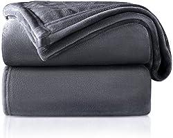 RATEL Plaid Couverture Polaire Gris Foncé 130 x 150 cm, Couverture en Flanelle épaisse Douce Et Confortable, Peut être Utilis