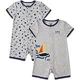 FROERLEY Pyjama Bébé Garçon, Grenouillère Bébé, Barboteuse Bebe Garçon été, Combinaison Bebe Garcon,Coton,0-24 Mois, 2 Pièces