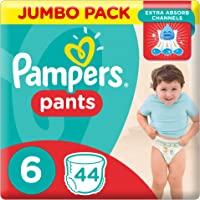 Pampers Pants Diapers, Size 6, Jumbo Pack - 16+ kg, 44 Count