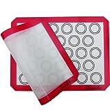 LuxéArt Tapis de Cuisson en Silicone 2 Pièces sans BPA Anti-Adhérent (40 * 30cm), spéciale pâtisserie et Cuisine Parfait pour