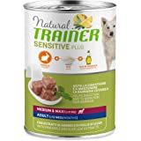 Trainer Natural Sensitive Plus - Cibo Umido per Cani Medium-Maxi Adulti con Coniglio e Riso - Pack 12 x 400gr - 3,6kg