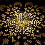 MUSUNIA Lanterne solaire pour extérieur, décoration de jardin, IP44, étanche, 25 x 13 cm, lanternes de jardin en métal 1 paqu