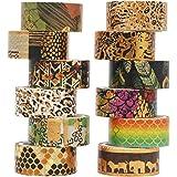 YUBX Washi Tape Ruban Adhésif Papier Décoratif Masking Tape pour Scrapbooking Artisanat de Bricolage (Wilderness)