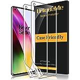 [2 pack] UniqueMe Screen Protector Compatibel voor Oneplus 8, [Eenvoudige installatie] [Vingerafdruk beschikbaar] Flexibele S