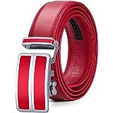 ITIEZY Cintura da Uomo in Pelle Fibbia Automatica Cintura a Cricchetto con Confezione Regalo