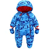 Bambino Tute da neve Neonato Hooded Pagliaccetti Body Overalls (9-12 Mesi)