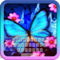 Beautiful Blue Butterfly Keyboard Theme Free Themes Backgrounds Wallpapers