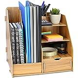 Wooden Desktop Organiser   Office Stationery & Document Storage Drawer   A4 File, Book & Magazine Organisers   Pen & Pencil H