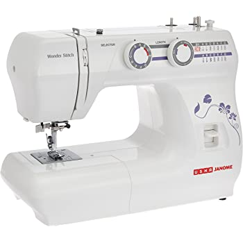Usha Janome Wonder Stitch Automatic Zig-Zag Electric Sewing Machine (White)
