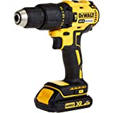 DeWalt 18V 13mm Compact Hammer Driver,Brushless, 2 x 1.5Ah batteries, charger and kit box, Yellow/Black, DCD778S2-GB, 3 Year