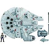 Figura y vehículo de Star Wars Mission Fleet Han Solo Millennium Falcon a escala de 2,5 pulgadas, juguetes para niños a parti