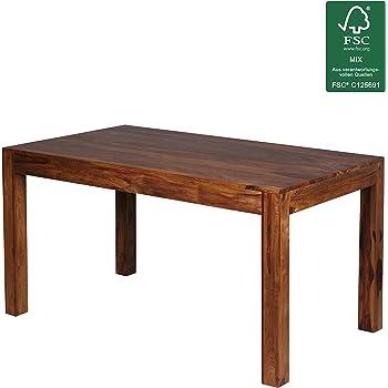 Design Esstisch Holz Massiv 140 x 80 x 76 cm | Moderner ...