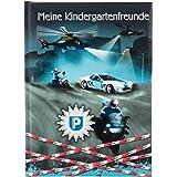 Goldbuch policía, DIN A5, Amistad para Rellenar, Libro de Recuerdos a Amigos, Cuaderno con 88 páginas ilustradas, Cubierta co