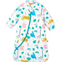 Chilsuessy Baby Sleeping Bag with Detachable Long Sleeves 3.5 Tog for Winter Toddler Sleeping Bag Kids Sleeping Sack for Infant Toddler, Animal World, L/2-4 Years