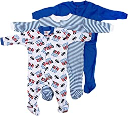 EIO Baby Boy's Cotton Long Sleeve Romper Suit (457_Multicolour_3-6 Months)