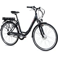 CHRISSON 28 Zoll E-Bike Trekking und City Bike für Damen - E-Lady schwarz mit 7 Gang Shimano Nexus Nabenschaltung…