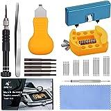 JOREST Kit Changement Pile Montre, Kit Outil Montre, Tournevis Reparation Horloger, Remplacement Pile, Ouvre Boitier Montre,
