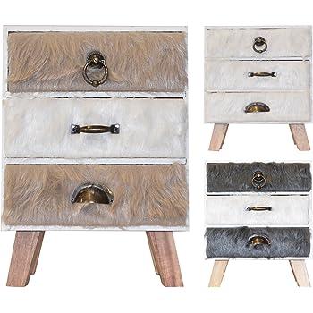 Schubladenboxen Mini Kommode aus Holz mit Schubladen Aufbewahrungbox Organizer 14x11x40cm